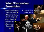 wind percussion ensembles