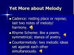 yet more about melody