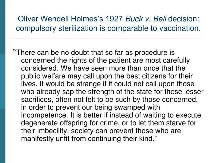Oliver Wendell Holmes's 1927