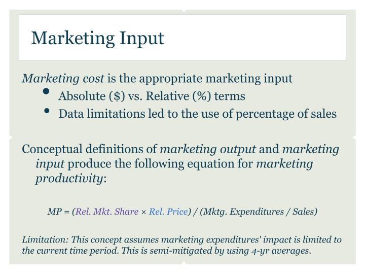 Marketing Input