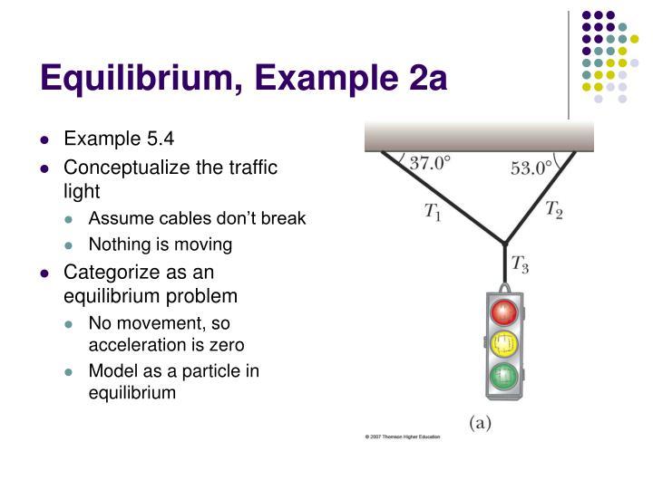 Equilibrium, Example 2a