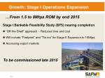 growth stage i operations expansion