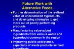 future work with alternative feeds