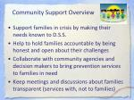community support overview