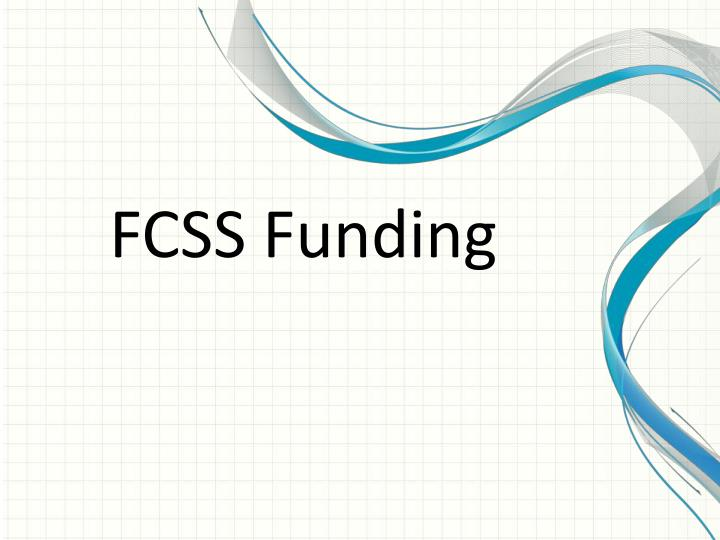 FCSS Funding