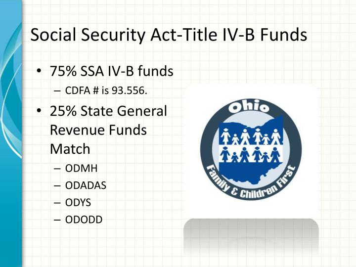 Social Security Act-Title IV-B Funds