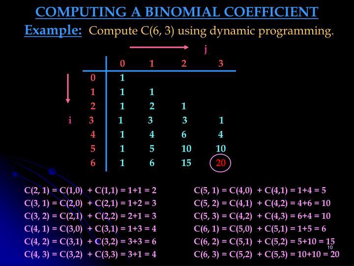 COMPUTING A BINOMIAL COEFFICIENT