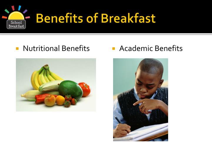 Benefits of breakfast