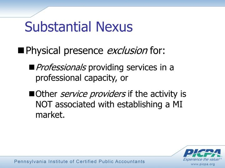 Substantial Nexus