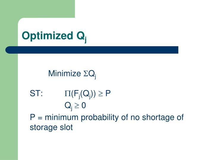 Optimized Q