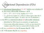 functional dependencies fds