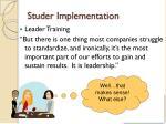 studer implementation1