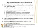 objectives of the national roll out