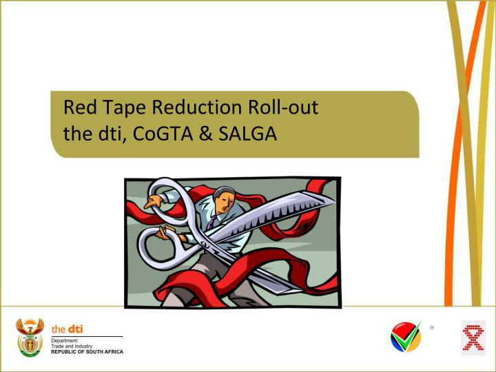 red tape reduction roll out the dti cogta salga n.