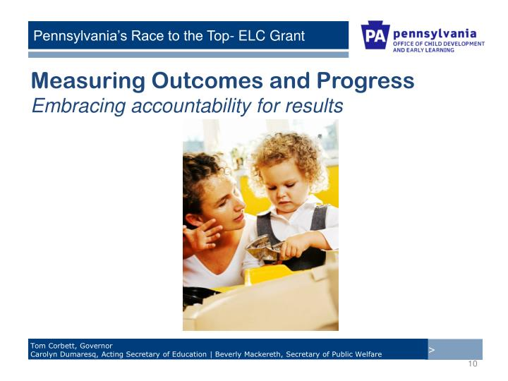 Measuring Outcomes and Progress