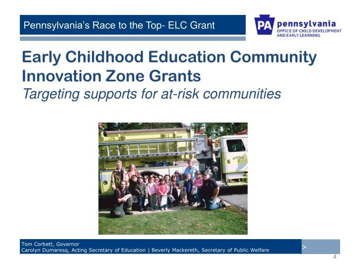 Early Childhood Education Community Innovation Zone