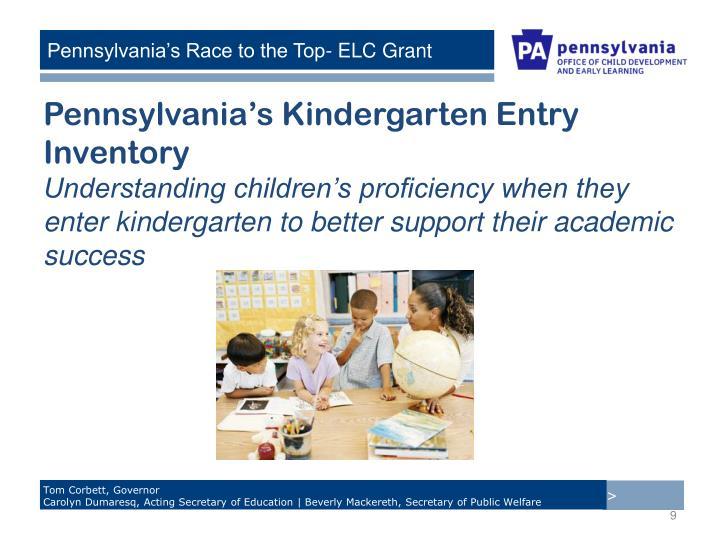 Pennsylvania's Kindergarten Entry Inventory