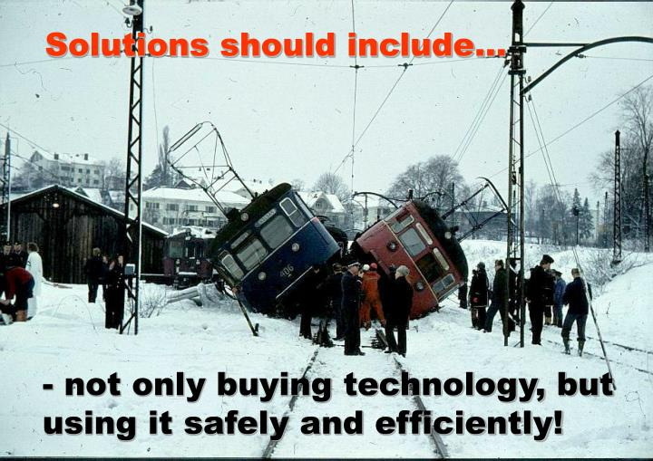 Solutions should include...