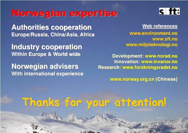 Norwegian expertise