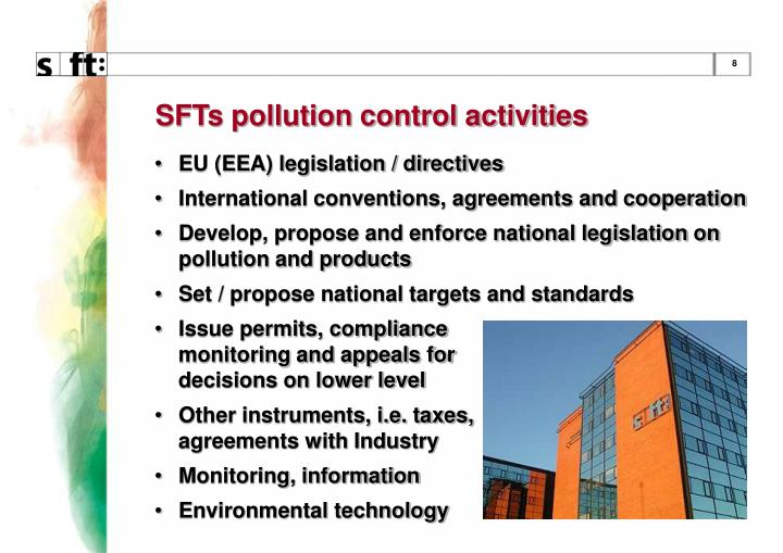 SFTs pollution control activities