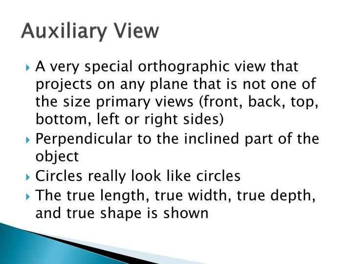 Auxiliary View