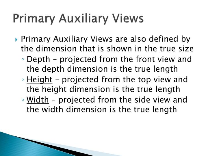 Primary Auxiliary Views