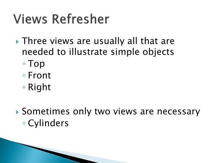 Views refresher