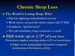 chronic sleep loss