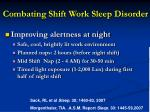 combating shift work sleep disorder1