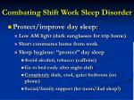 combating shift work sleep disorder3