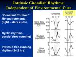 intrinsic circadian rhythms independent of environmental cues