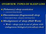 overview types of sleep loss