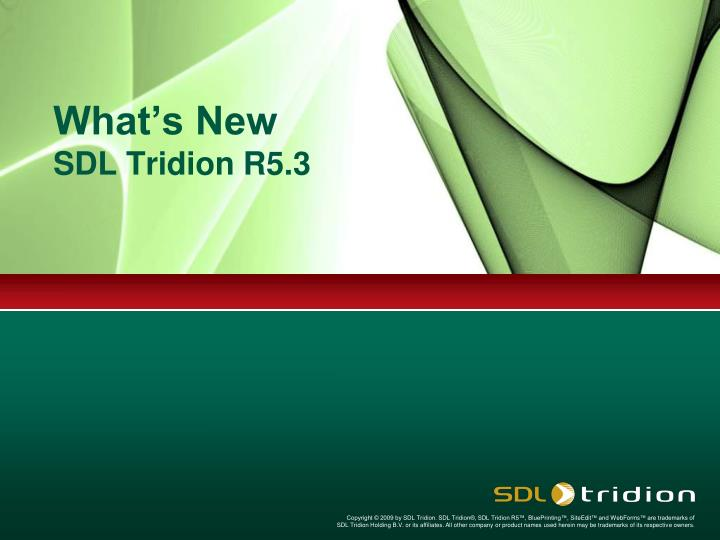 what s new sdl tridion r5 3 n.