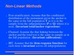 non linear methods