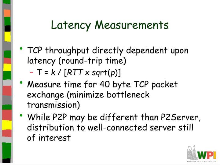 Latency Measurements