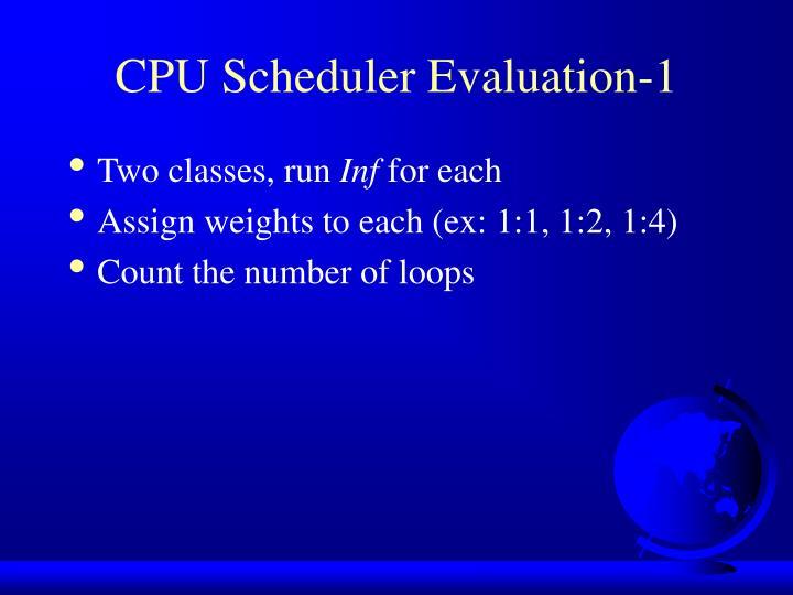 CPU Scheduler Evaluation-1