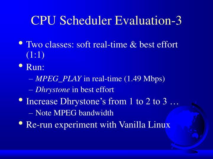 CPU Scheduler Evaluation-3