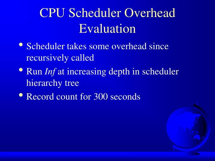 CPU Scheduler Overhead Evaluation