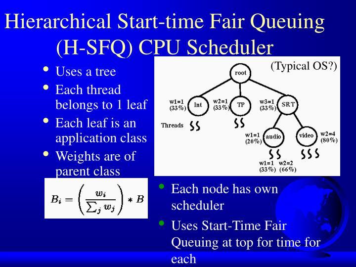 Hierarchical Start-time Fair Queuing