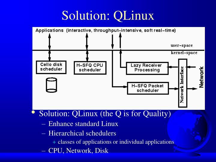 Solution: QLinux