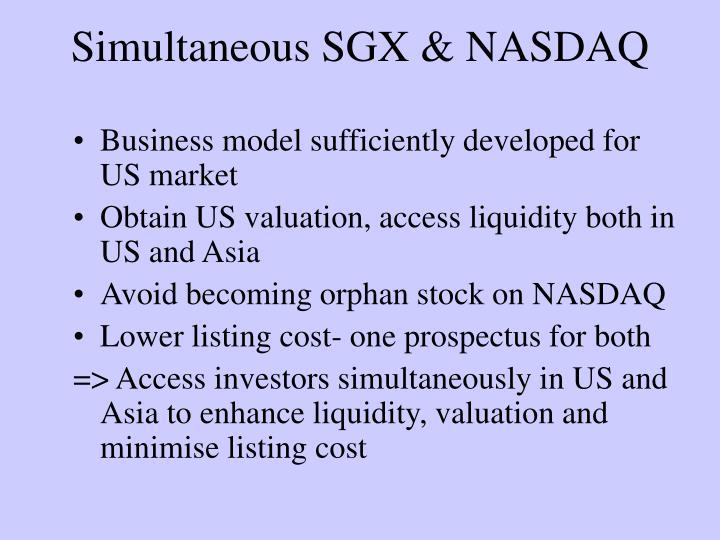Simultaneous SGX & NASDAQ