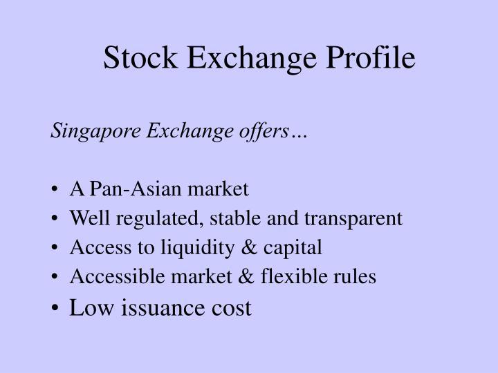 Stock Exchange Profile