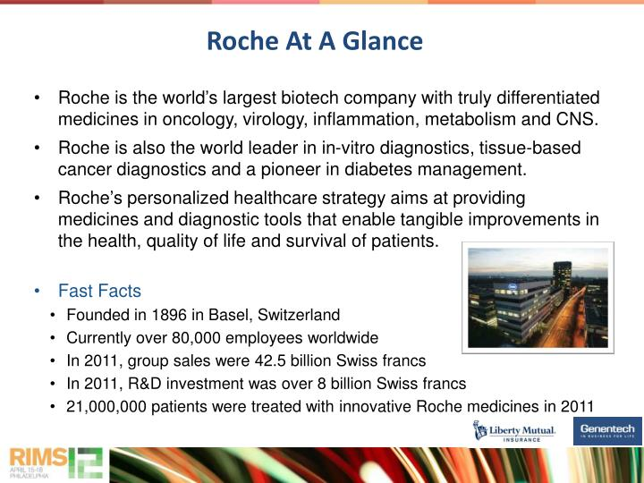 Roche is the world