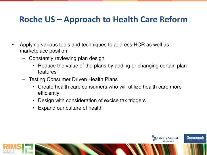 Roche US – Approach to Health Care Reform