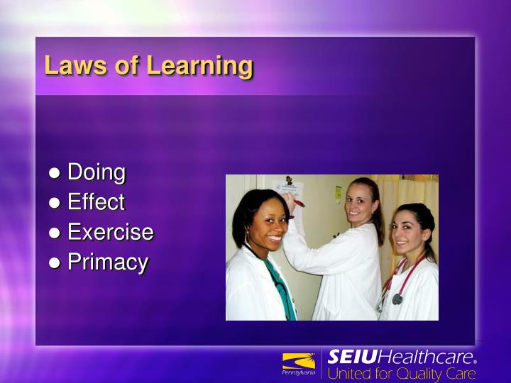 Laws of Learning