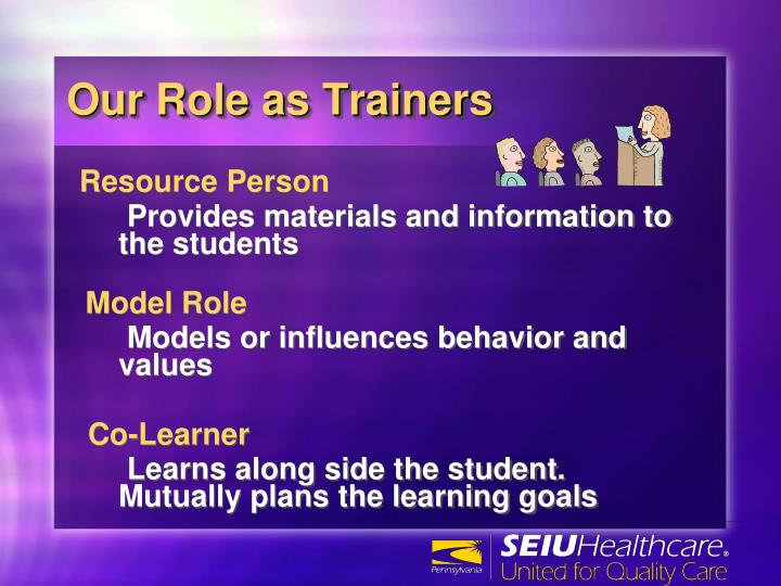 Our Role as Trainers