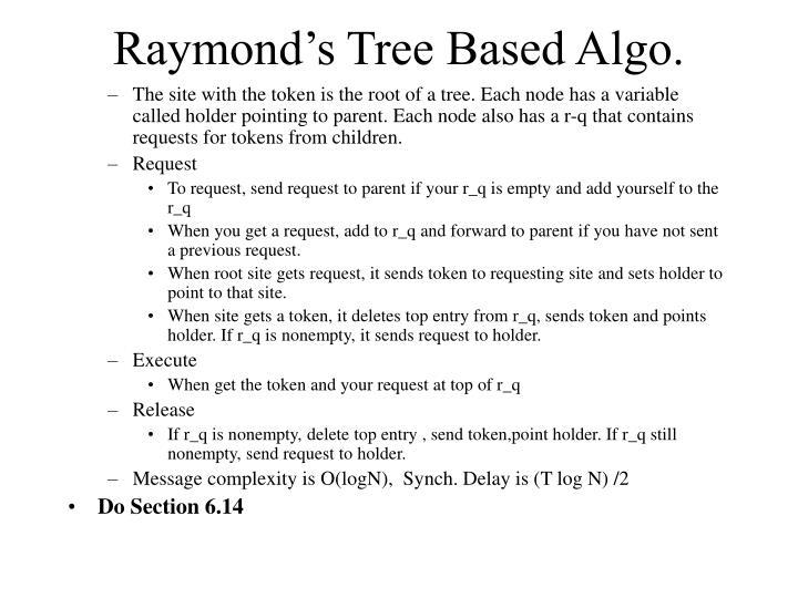 Raymond's Tree Based Algo.
