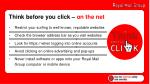 think before you click on the net
