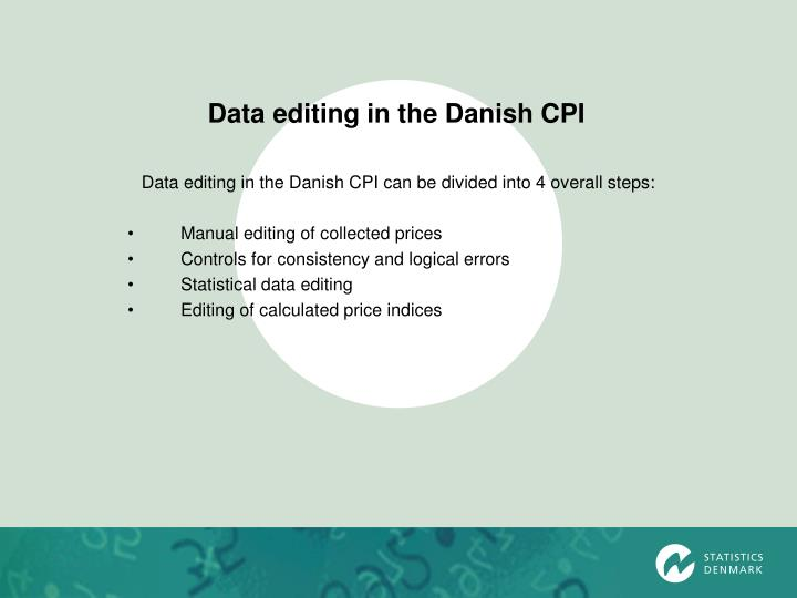 Data editing in the Danish CPI
