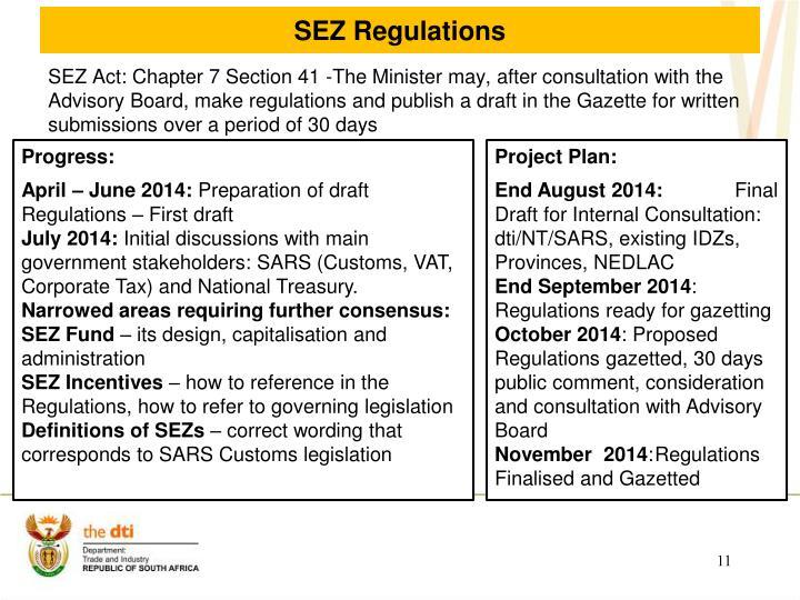SEZ Regulations